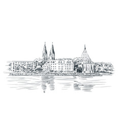 Hand drawn sketch brandenburg state orchestra vector