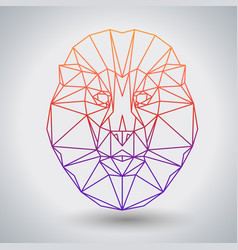 Hipster polygonal animal lion triangle animal vector