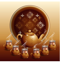 international tea day agricultural holiday vector image