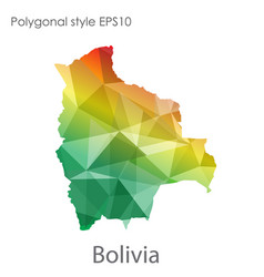 Isolated icon bolivia map polygonal geometric vector