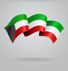 Kuwait waving Flag vector