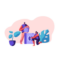 laundromat and domestic housework day vector image