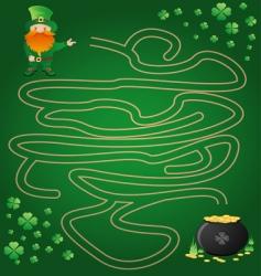 Leprechaun maze vector