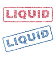 Liquid textile stamps vector