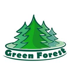 Logo coniferous forest vector