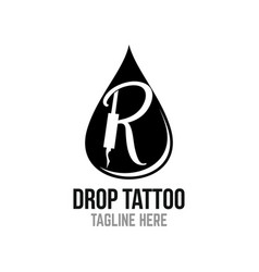 modern drop tattoo logo vector image