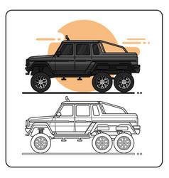 Monster offroad truck easy editable vector