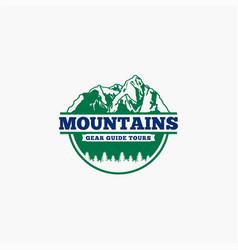 Mountains logo-badge-9 vector
