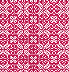 Nordic red white seamless pattern vector