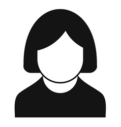 nursing elderly icon simple style vector image