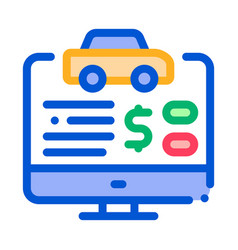 online car buy icon outline vector image
