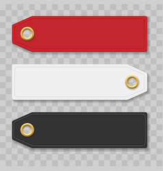 paper apparel tags vector image