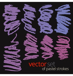Pastel strokes set 2 vector