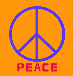 Peace symbol icon friendship pacifism on vector
