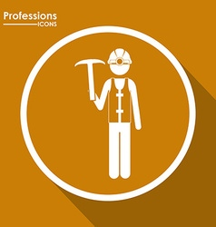 Professions design vector image