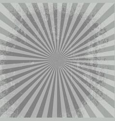 rays background gray burst it stylish vector image