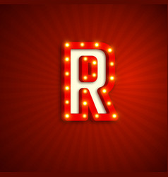 retro style letter r vector image