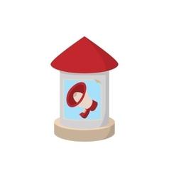Round advertising pillar icon cartoon vector image
