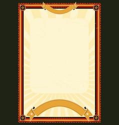 Royal menu poster vector