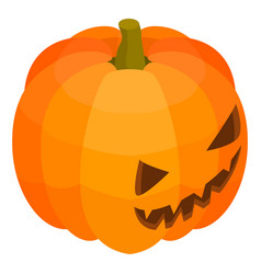 scary pumpkin icon isometric style vector image