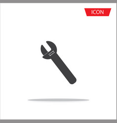 screwdriver icon isolated on white background vector image