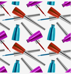 seamless pattern with realistic 3d eyeliner vector image