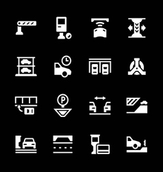 Set icons of parking vector image