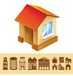 set of houses icons vector image vector image