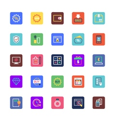 Shopping and eCommerce Colored Icons 4 vector