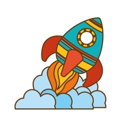 Space rocket vehicle icon vector
