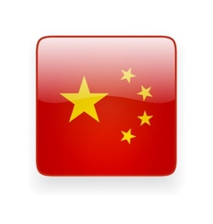 Square icon with flag of China vector image