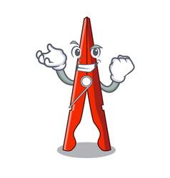 Successful clothes peg character cartoon vector