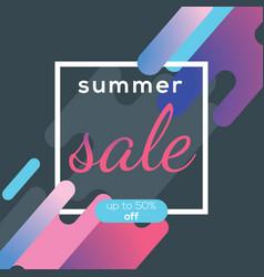 summer sale banner poster design concept vector image