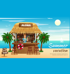 Summer vacation horizontal vector