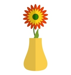 sunflower in a vase vector image