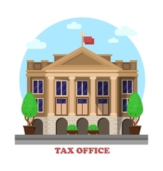 Tax office facade architecture financial building vector image