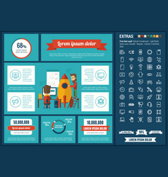 technology flat design infographic template vector image
