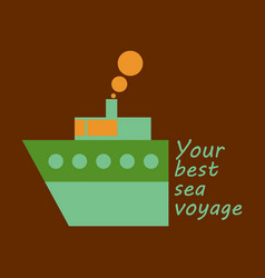 Time to travel concept happy family rides boat vector