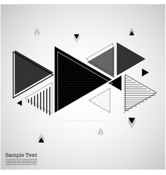 triangles abstract geometric memphis elements vector image