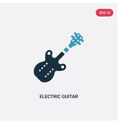 two color electric guitar icon from united states vector image