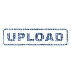 Upload textile stamp vector