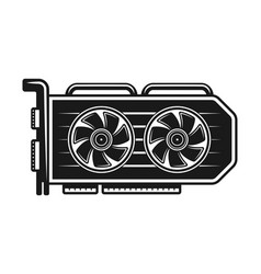 video card monochrome object or element vector image