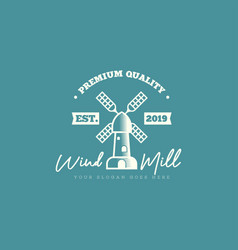 windmill logo template building in farm logo vector image