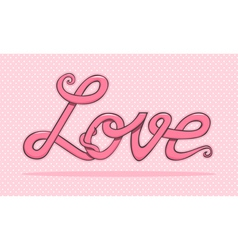 Word love vector