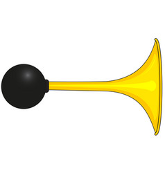 Yellow car horn vector