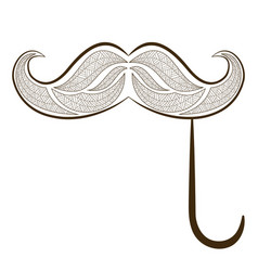 zen tangle fake mustache zentangle whisker vector image