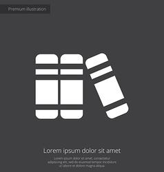 books premium icon white on dark background vector image
