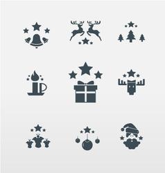 Christmas icons for Christmas vector image vector image