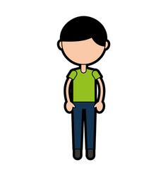 Cute boy cartoon vector