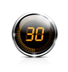 Electronic timer 30 seconds vector image vector image